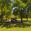 Playground near the swimming area.- St. Francois State Park Campgrounds