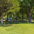 Playground in the campground.- St. Francois State Park Campgrounds