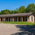 Shower and restrooms near the camping area.- St. Francois State Park Campgrounds