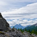 There are a lot of fun rocks to scramble up alongside the trail.- Skoki Loop via Baker Lake and Merlin Meadows