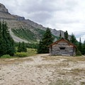 The half-way Hut.- Skoki Loop via Baker Lake and Merlin Meadows