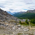 View of the trail leading to Ptarmigan Lake.- Skoki Loop via Baker Lake and Merlin Meadows