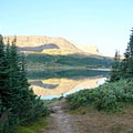 View of Baker Lake from the camping area.- Skoki Loop via Baker Lake and Merlin Meadows