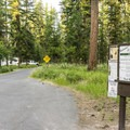 Entering River Point Campground.- River Point Campground