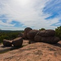 Bolder pile at the top of the trail.- Elephant Rocks State Park