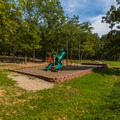 A playground near the parking lot.- Elephant Rocks State Park