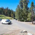 Parking is at the large parking area about a quarter-mile before Echo Chalet.- Echo Lakes Trail