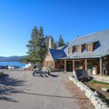 Echo Chalet lodging and a small market are open during the summer season.- Echo Lakes Trail