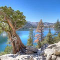 Picturesque views of the lake and the Desolation Wilderness.- Echo Lakes Trail