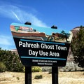 The entrance to Pahreah Ghost Town Day Use Area.- Pahreah Ghost Town Day Use Area