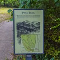 Peak Trail sign.- Hot Springs National Park