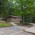 Picnic area restrooms.- Hot Springs National Park