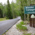 Wheeler Campground is at the top of Wheeler Peak Scenic Drive.- Wheeler Campground