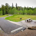 Camp sites each have a picnic table, a grill and a fire pit.- Wheeler Campground