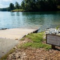The boat ramp for personal watercraft leading down to the lake. - Keowee Toxaway State Park