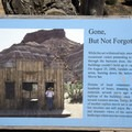 A marker explaining the fate of the replica movie set.- Pahreah Ghost Town Day Use Area