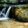 A small waterfall on Poe Creek.- Natural Bridge Trail