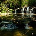 A waterfall on Poe Creek.- Natural Bridge Trail