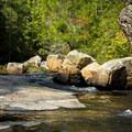 Rock formations on Eastotoe Creek.- Long Shoals Roadside Park