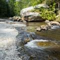 Flowing water.- Long Shoals Roadside Park