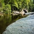 A wading area in Eastotoe Creek.- Long Shoals Roadside Park