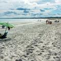 Pine Point beach is host to an abundance of white sand.- Pine Point Beach