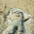 Fun sand sculptures.- Pine Point Beach