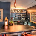 The hotel has a private intimate bar and drinking area reserved for guests.- Basecamp Tahoe South