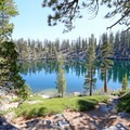 Granite Lake sits along the trail and makes a great destination in itself, or it can be a nice place to cool off.- Maggie's Peak