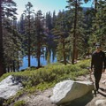 Climbing beyond Granite Lake toward the peak.- Maggie's Peak