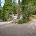 A wide trail marks the descent into and from Emerald Bay.- Emerald Bay Paddle