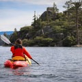 Fannette Island makes an ideal destination for paddlers to explore.- Emerald Bay Paddle