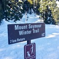 The trail is well marked to Pump Peak.- Mount Seymour Snowshoe