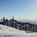Open views from Mount Seymour.- Mount Seymour Snowshoe