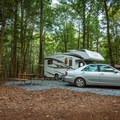 RV sites accommodate many different sized vehicles.- Croft State Park Campground