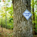 Markers guide you along the trail.- Nature Trail