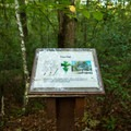 Informational signs dot the trail.- Nature Trail