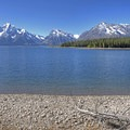 Great views of the Tetons from across Jackson Lake.- Hermitage Point Loop