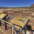 Interpretive signs at the lookout.- Horsecollar Ruins Overlook