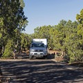 Just a few spots for some cars and smaller RVs.- Natural Bridges Campground