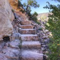 Stairs along the Kachina Bridge hike- Natural Bridges National Monument