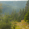 Start of the hike toward campground.- Fishing Cove Campground
