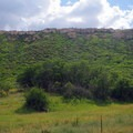 View along the trail as you ascend to the top of the mesa.- Prater Ridge Trail