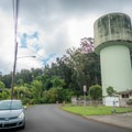 Park on the road by the water towers.- Wahiawa Hills