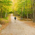 Visitors can walk or run the trails for free.- Great Glen Trails Outdoor Center