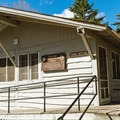 Camp store and visitor information.- Pillsbury State Park
