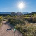 On the way to the Garden of the Gods.- Bretag Trail and Upper Central Garden Loop