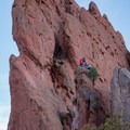 Climbers practicing on the smaller outcroppings.- Bretag Trail and Upper Central Garden Loop
