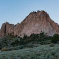 Gray Rock formation.- Bretag Trail and Upper Central Garden Loop