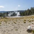 Finally, the geyser!- Lone Star Geyser Hike